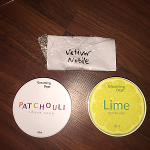 Grooming Dept. Patchouli & Lime Shaving Soaps