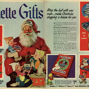 1950 Gillette Aristocrat Christmas gift box
