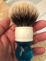 Yaqi 24mm Aqua Two-Band Badger Hair Shaving Brush