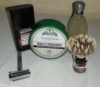 Yaqi Slant - Sharpy R-47 - Semogue 620 - Stirling Soap Co. Vanilla Sandalwood - L'Oreal Men E...jpeg