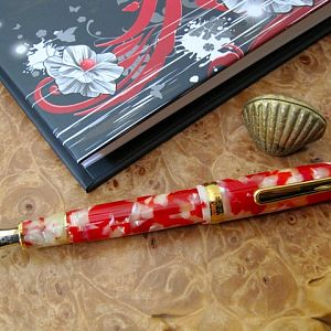 Platinum 3776 in celluloid Koi with music nib