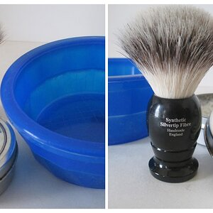 Shave Bowl and Brush